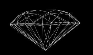 分享一例Canvas画的钻石